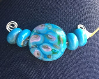Light Blue/Turquoise Lampwork Beads