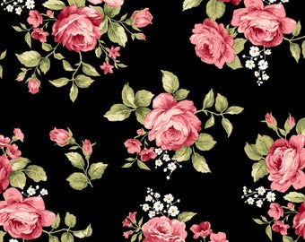 Black Flannel Fabric - Welcome Home - Maywood - F8360M-J