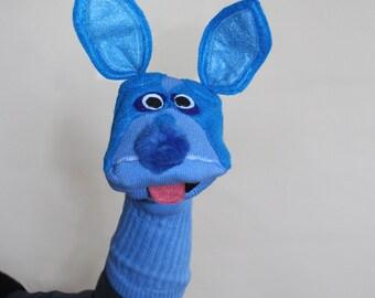 SALE Blue Pitbull Sock Puppet