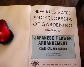Vintage Gardening  Book 1960 Japanese Flower Arranging Mid Century Many Colored Pictures DIY