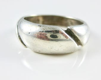 Size 7 Vintage Sterling Silver Ring Band