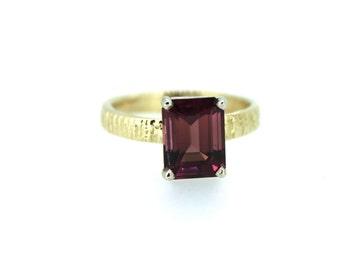 tourmaline engagement ring . unique engagement ring . bohemian diamond alternative engagement ring . ready to ship size 6.5