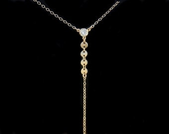 Lariat Necklace, Y Necklace, Gold Lariat, Silver Lariat, Lariat and Y Necklaces