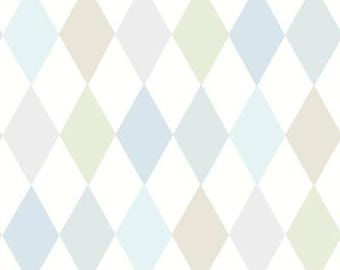 Diamond Punchinello Wallpaper by Cole & Son Comes in 5 colors / Sold by the Single Roll / Free Shipping
