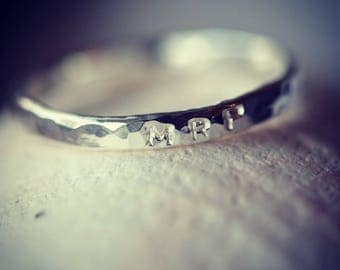 Sterling Silver Word/Initial/Name Ring