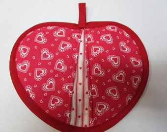 Heart shaped potholder