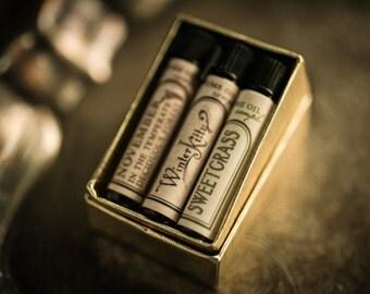 Natural Perfume Oil - Samples - Choose 3 - For Strange Women perfume -
