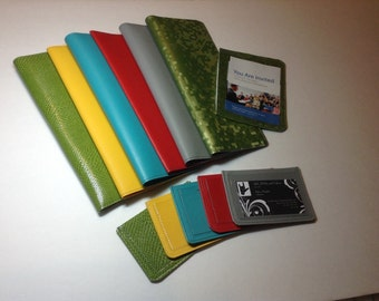 3 pc. Set    Tractholder, card holder and meeting invite case, many color choices. convo me if you don't see your color listed.