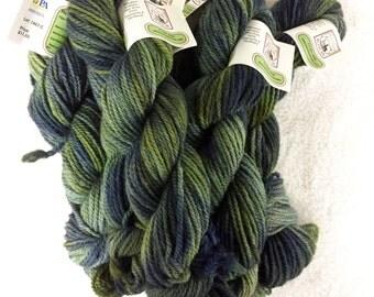 Bulky Alpaca Yarn (Lot 1407) - 100 yds - Marbled shades