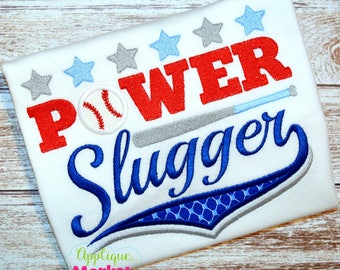 Machine Embroidery Design Embroidery Power Slugger INSTANT DOWNLOAD
