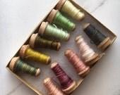 Sanibel Kid Mohair Sample Boxes #A, B, C. Hand Dyed The ThreadGatherer. 11 Color Sampler Pack for Embroidery, Embellishment, & Fiber Arts.