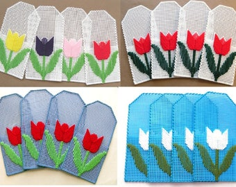 Picnic Silverware Pockets - Tulips - Set of 4
