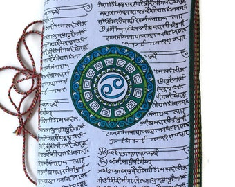 Cancer Journal, Zodiac Astrological Gift, White journal, Cancer Horoscope, Junk journal, Writing  Journal, Water Element, July Birthday Gift