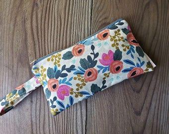 Spring Floral Wristlet Clutch