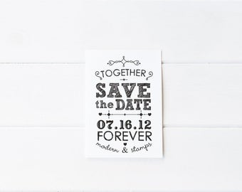 Custom Wedding Stamp   Save the Date Stamp   Custom Rubber Stamp   Custom Stamp   Personalized Stamp   Vintage Save the Date   D5