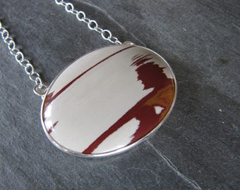 Large Owyhee Picture Jasper Necklace in Sterling Silver