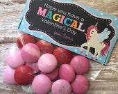 PRINTABLE DIY Smartie Valentine's Day Treat Bag Topper