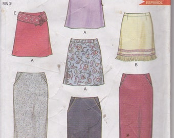 New Look 6018 Misses' Skirts Sizes 8-18 by Simplicity Patterns UNCUT Pattern Rare and OOP