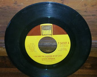 Stevie Wonder You Are The Sunshine Of My Life 45 RPM Record