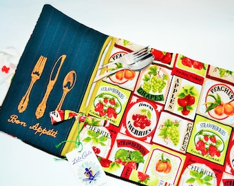 picnic placemat,roll up picnic,Placemats with pockets,doily,doily zipped for work,picnic,doily work,placemat lunch,placemat zipped,rolled