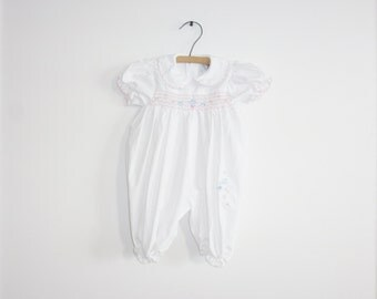 Vintage Baby Girl White Outfit