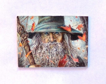 Gandalf, Original,  Lord of the Rings, ACEO Trading Card