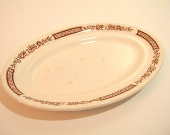 Alfred Meakin Brown Fair Winds Small Oval Plate