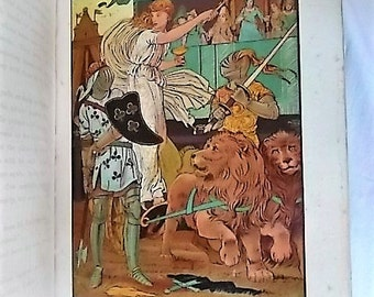 1878 Spenser for Children by Towry Color Illustrations Morgan Fairie Queen