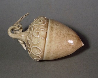 Ceramic acorn ornament