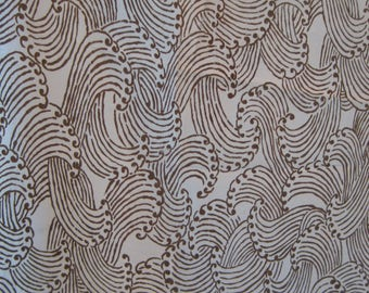 SILK Fabric Remnants WAVE Pattern