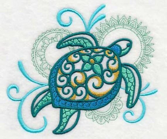 Turtle Towel Sea Turtle Embroidered Towel Flour Sack