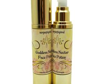 Goddess Nectar FACE POTION rose dry skin formula ORGANIC Anti-aging Luxury Skincare