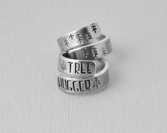Aluminum wrap ring / Tree hugger ring