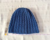 Eyelet Beanie in Medium Blue 5203