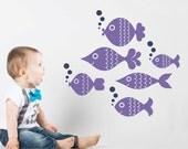 Ocean Big Fish Decals Kids Underwater Vinyl Wall Stickers: SWIM LEFT
