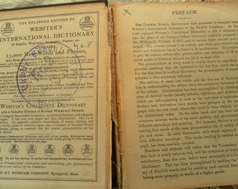 Websters's Common School Dictionary 1800s