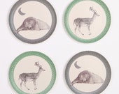 Bamboo Dinnerware - Bear and Deer - (FDA & LFGB food safe approved)