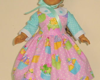 Colonial Easter Dress designed for American Girl Felicity,Elizabeth or Kirsten 3 pc.. No. 707