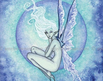 Pale Fae fairy 8X10 PRINT by Amy Brown