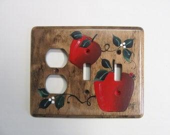 Interrupteur Double sortie avec cuisine de campagne pommes rouges