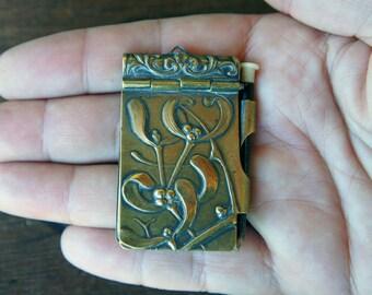 Antique French Mistletoe Carnet de Bal Aide de Memoire Notebook