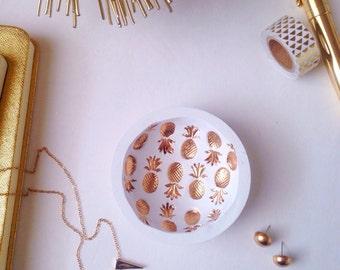 Gold Pineapple Ring Dish/Pineapple Ring Dish