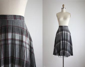 1970s autumn plaid skirt