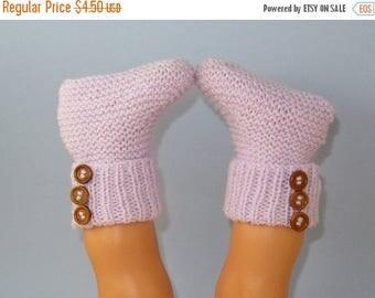 50% OFF SALE Digital pdf download knitting pattern -  Easy Baby 3 Button Rib Top Booties pdf download knitting pattern