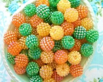 Berry Beads - Citrus Mix - 15mm - Set of 20