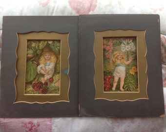 Pair Of Victorian Chromolithograph Prints