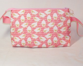 Mini LambZee's in Pink Tall Mia Bag - Premium Fabric