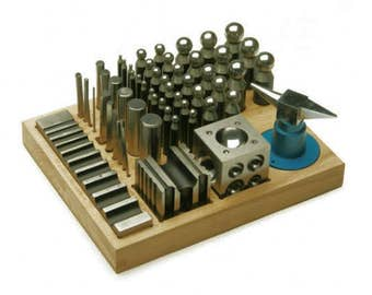 Jumbo Complete 56 Piece Dapping And Forming Set In Wood Base Free Shipping