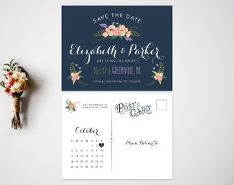 Save the Date  Wedding Save the Date  Fun Save the Date  Cute Save the Date  Whimsical  Casual Save the Date  Wedding Invitation