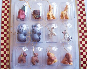 12 Piece Noah's Ark Miniatures for Craft Projects circ 2000